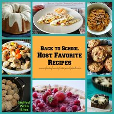 back to school hg collage by foodie friends friday featured my Apricot Brandy Pound Cake with Apricot Brandy Glaze