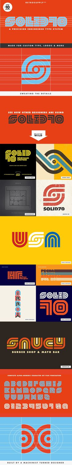 SOLID70 Type System [SAVE $10]. Display Fonts. $29.00