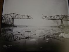 From Facebook, a 1930 picture of the Lewis and Clark Bridge under construction.