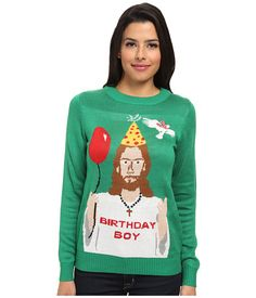 Happy Birthday Jesus Ugly Christmas Sweater. For real someone needs to wear this to our party.