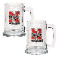 Great American NCAA 15 oz. Glass Tankard Set - GTGT2330