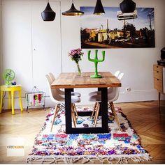 Moroccan rug - Eames chair - colorful - vintage - secret berbère