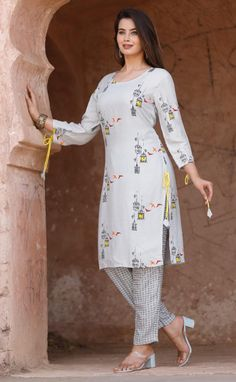 Printed Kurti, Printed Pants, Side Slit Dress, Tunic Tops, Free Shipping, Type, Clothes For Women, Clothing, Dresses