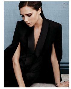 Victoria Beckham... tuxedo blazer cape- LOVE!