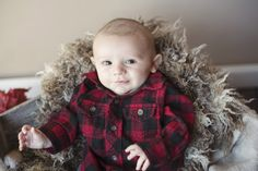 3 month old pics. 3 month flannel shirt. 3 month picture ideas. fort wayne indiana photographer