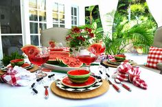 Around the House: TASTY WATERMELON TABLESCAPE