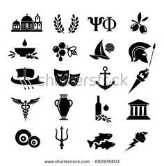 white, black, greece, greek, icon, ancient, vector, culture, set, history, symbol, roman, column, icons, art, illustration, design, olive, athens, traditional, amphora, architecture, antique, temple, vase, travel, archeology, pottery, laurel, parthenon, old, classic, classical, symbols, mask, acropolis, alphabet, harp, isolated, civilization, logo, evil, eye, fish, sail, helmet, olimpic, church, triton, god