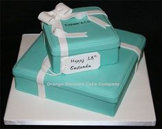 Stacked Tiffany Boxes Cake