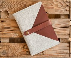 iPad mini Envelope Courier leather wool felt by TheNavis on Etsy