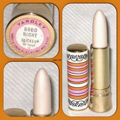 and Yardley White Lipstick. I had one and loved both the lipstick and the tube. Vintage Makeup, Vintage Beauty, My Childhood Memories, Best Memories, Style Vintage, Vintage Ads, Vintage Items, White Lipstick, Frosted Lipstick