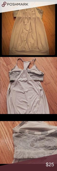 Lulu lemon no limits tank Lulu lemon grey, cream- off white color tank. Size 6. Worn a couple of times. No tags lululemon athletica Tops