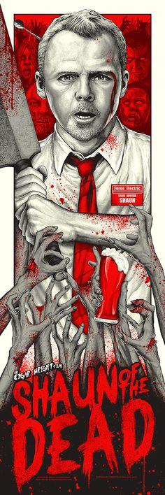 Vector Serigrafia Shaun Of The Dead - Alternative Film Posters Best Movie Posters, Horror Movie Posters, Movie Poster Art, Horror Movies, Art Posters, Zombie Movies, Alternative Movie Posters, Comedy Movies, Cultura Pop