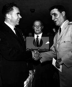 Richard Nixon en su visita al país junto a Wolfgang Larrazábal en1958. Foto: Archivo Fotográfico/Cadena Capriles