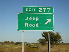 Jeep road - Exit 277 - Kansas ~ There is a black golden eagle Jeep within the picture. On my to find list! Jeep Xj, Jeep Wrangler Jk, Jeep Wrangler Unlimited, Jeep Truck, Jeep Willys, Camping Jeep, Jeep Parts, Off Road, It Goes On