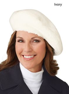 Ladies' Faux Fur Beret