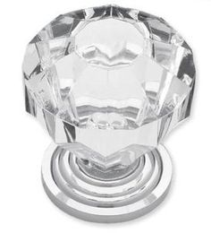 1-1/4'' Acrylic Faceted Knob