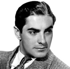 Summer Under the Stars Week 4 - Tyrone Power.  Dad was a stand-in for him while they filmed Jesse James in the Devil's Den