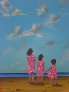 """Three Sisters"" ~ painting by Paddy Martin. Dedicated to my sisters, who are there when it matters."