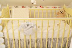 Closet converted into a mini vintage-inspired cottage nursery
