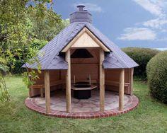 Open sided BBQ Cabin www.cabinsandspas.co.uk