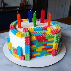Lego Cake with regard to Inspiration for You – Birthday Ideas Make it - Modern Lego Torte, Reddit Food, Bolo Lego, Lego Birthday Party, Birthday Ideas, 5th Birthday, Birthday Cakes, Casa Lego, Lego Candy