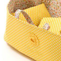 Smallstuff dukkelift m pude og dyne, stor - gul
