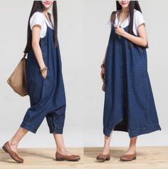 45c372c093b6 Women Fashion Overalls 2017 Casual Large Size Rompers Womens Jumpsuits With  Pockets Loose Comfortable Solid Cute Paysuits
