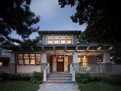 Decor Ideas for Craftsman-Style Homes Porter Street Bungalow in Washington, D. -- Maybe I am into Bungalow styles. Just love me them porches and entrances.