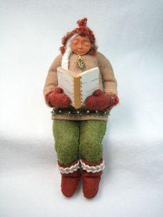 The Reader - Wool Felt Figure
