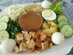 Javanese Recipe, Gado Gado, Good Food, Yummy Food, Indonesian Food, Indonesian Recipes, Recipe Steps, Chicken Wing Recipes, Asian Cooking