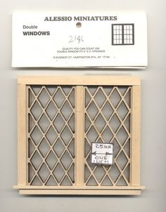 Window - Tudor Diamond Double - 2126 dollhouse miniature 1:12 scale USA made #AlessioMiniatures #Tudor