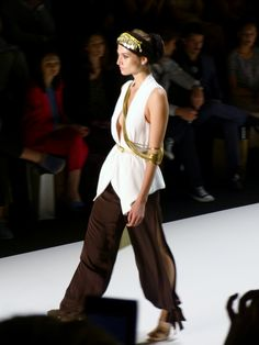 Model at DIMITRI Spring/Summer 2013 - Mercedes Benz Fashion Week - http://olschis-world.de/  #DIMITRI #Womenswear #Fashion