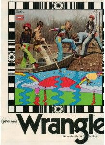 Finnfemme Blog: Those Funky 1971 Fashion Fads: Hot Pants and Knickers || Peter Max for Wrangler Jeans