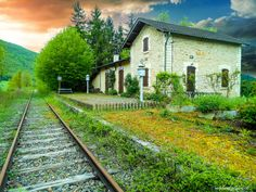 The Country Station of Calvignac , Lot ,serving the Capdenac , Cahors Line closed 2003