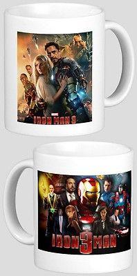 IRON MAN 3 - Robert Downey Jr - with 2 Photos - Designer Collectible GIFT Mug #3