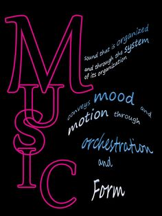 Music Definition Photoshop Online Course, Definitions, Online Courses, Neon Signs, Organization, Mood, Music, Getting Organized, Musica