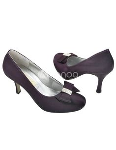 i think i'm gonna have a hard time finding some nice purple satin wedding shoes...