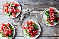Summer salads. Food 52 Watermelon, Arugula, and Pickled Onion Summer Salad