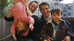 gay couples   Michael Eidelman, left, and A.J. Vicent pose with their twins, who ...
