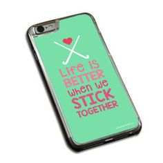 Field Hockey Phone Case Field Hockey Stick Together