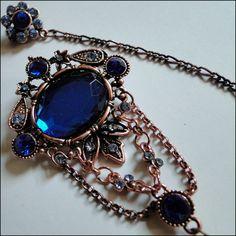 ISLAMICGEMS HIJAB PIN Ith-nain I Royal Blue