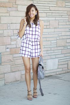 lucky magazine contributor,fashion blogger,lovefashionlivelife,joann doan,style blogger,stylist,what i wore,my style,fashion diaries,outfit,window pane,romper,windsor,windsor fashion,summer style,street style,31 phillip lim,zerouv,pearl jewelry,lulus,love lulus