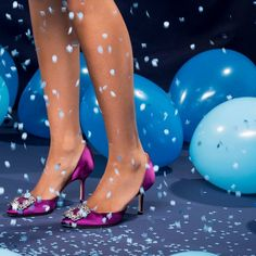 Kicking off the party. Stiletto Heels, High Heels, Manolo Blahnik Hangisi, Kicks, Party Fashion, Pumps, Shoes, Women, Style