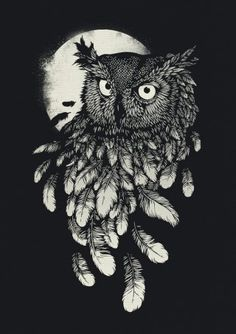 'Vanishing In The Night' by Daniel Teixeira (look at the rendering of those feathers!)