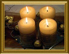 Kerzen mit Serviettentechnik