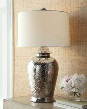 Hammered Metal Table Lamp.