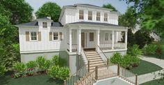 Gimball Bay - Coastal Home Plans Charleston House Plans, Coastal House Plans, Beach House Plans, Charleston Homes, Coastal Homes, House Floor Plans, Stilt House Plans, House On Stilts, Elevated House Plans