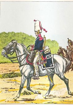 French; 12th Cuirassier Regt. Trumpeter, in Surtout, possibly from Elite Company, 1805