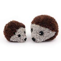 Pom Pom Hedgehog Family