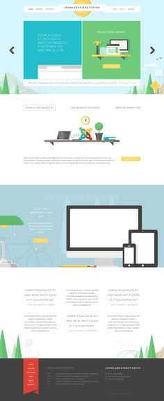 JDS Website Design by Jonathan Patterson, via Behance